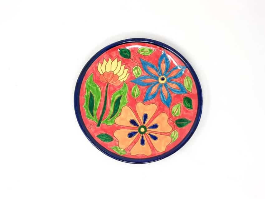 Verano-Spanish-Ceramics-Signature-Flowers-Large-Platter-7