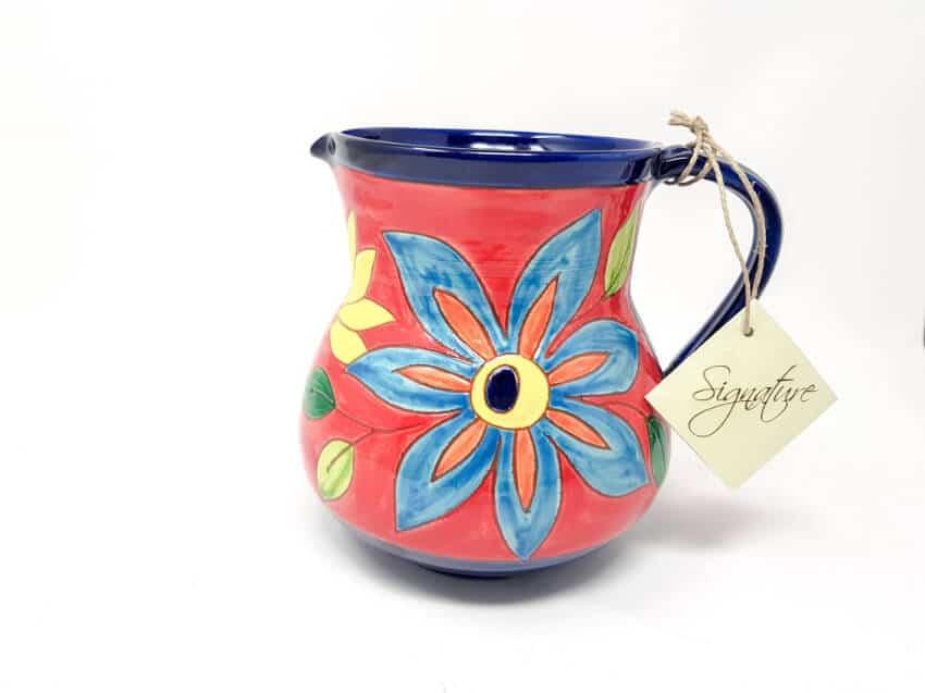 Verano-Spanish-Ceramics-Signature-Flowers-Small-Jug-3