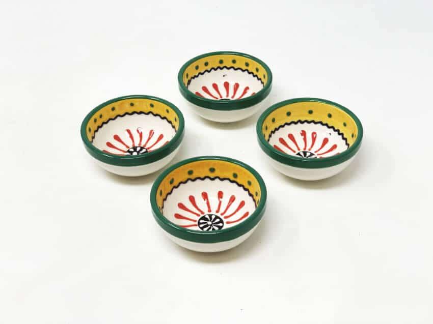 Verano-Spanish-Ceramics-Sombero-Set-of-4-Tapas-Bowls-2