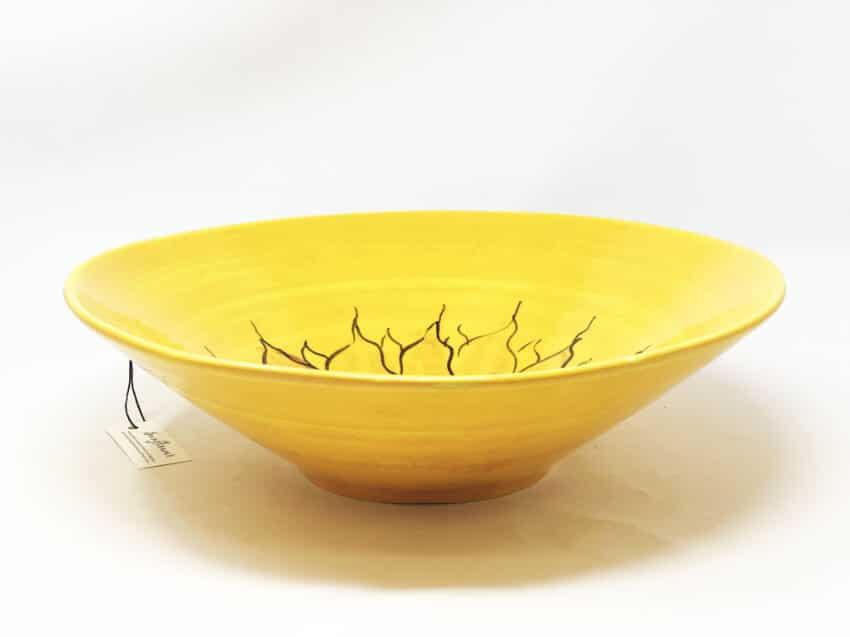 Verano-Spanish-Ceramics-Sunflower-Large-Conical-Bowl-2