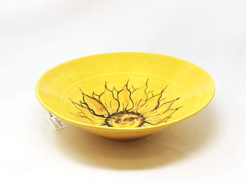 Sunflower - Large Conical Bowl