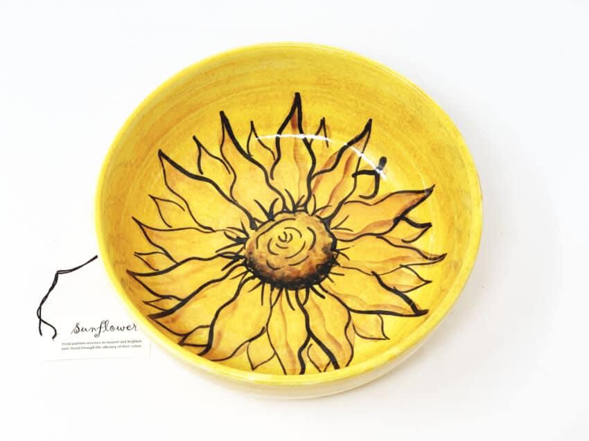 Verano-Spanish-Ceramics-Sunflower-Round-Bowl-2
