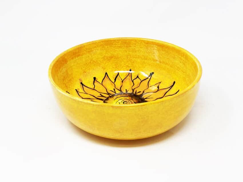 Verano-Spanish-Ceramics-Sunflower-Round-Bowl-3