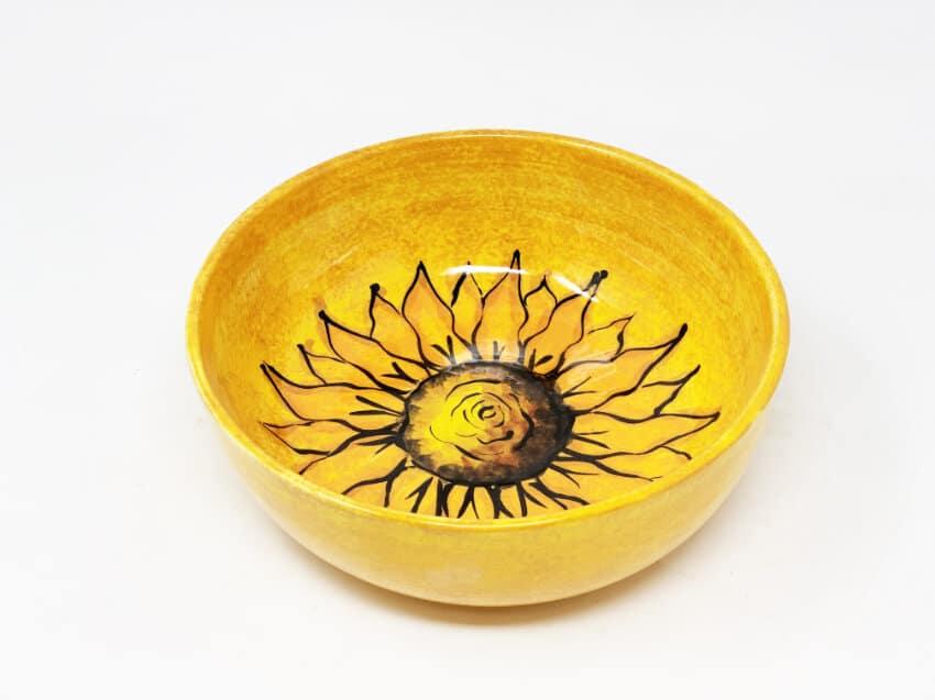 Verano-Spanish-Ceramics-Sunflower-Round-Bowl-4