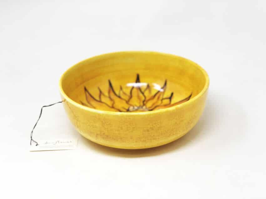 Verano-Spanish-Ceramics-Sunflower-Round-Bowl-6