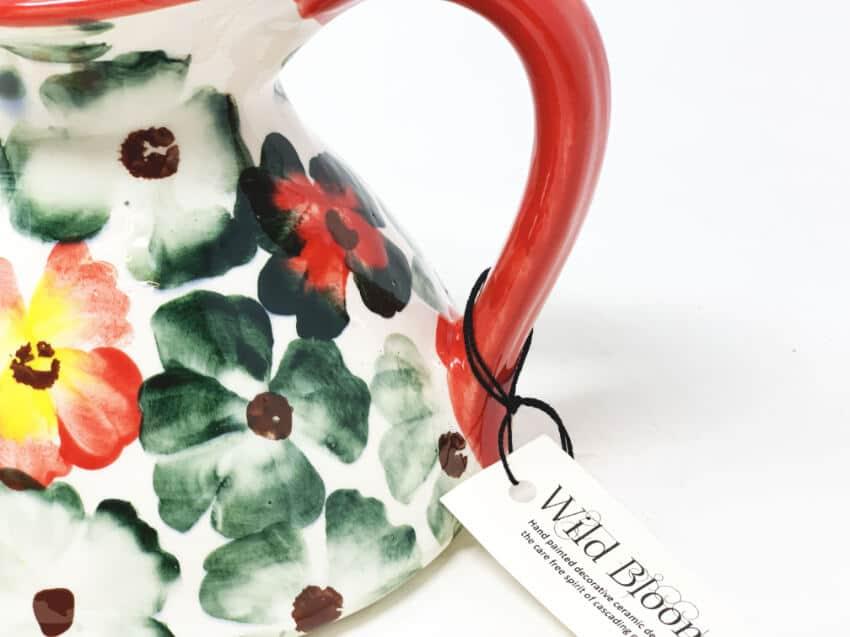 Verano-Spanish-Ceramics-Wild-Bloom-Flat-Based-Jug-2