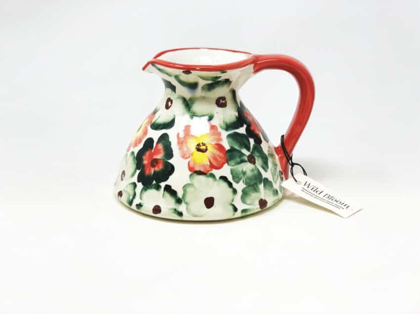 Verano-Spanish-Ceramics-Wild-Bloom-Flat-Based-Jug-3