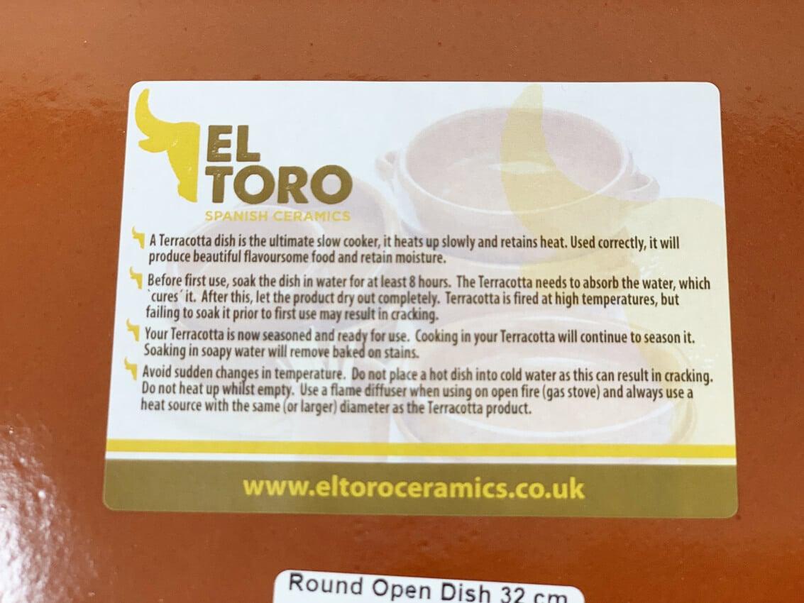 Verano-Ceramics-El-Toro-Collection-Round-Dish-Label