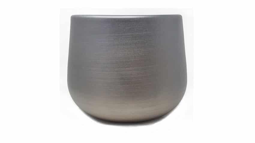 Indoor Textured Cylinder Pots  - Gun Metal