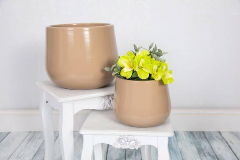 Verano Ceramics Indoor Plant Pots Cylinder Rust Group 1 1