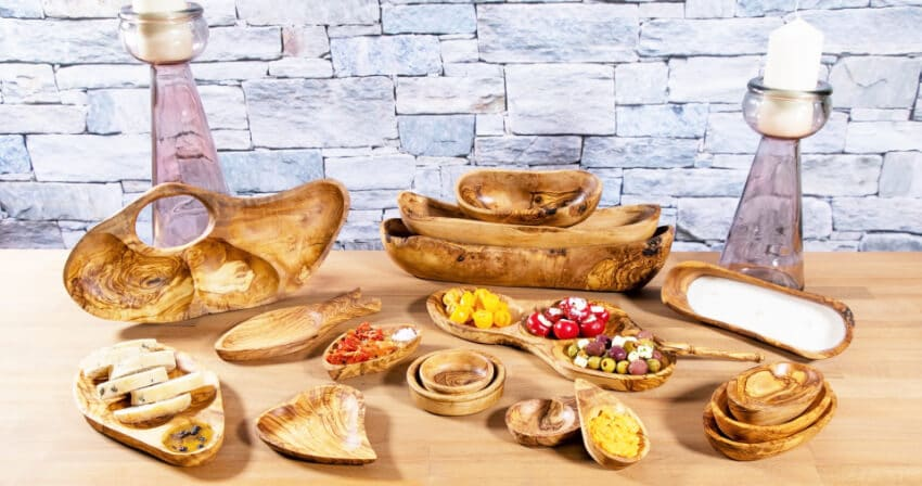Verano-Ceramics-Olive-Wood-Snack-Collection-Group-1