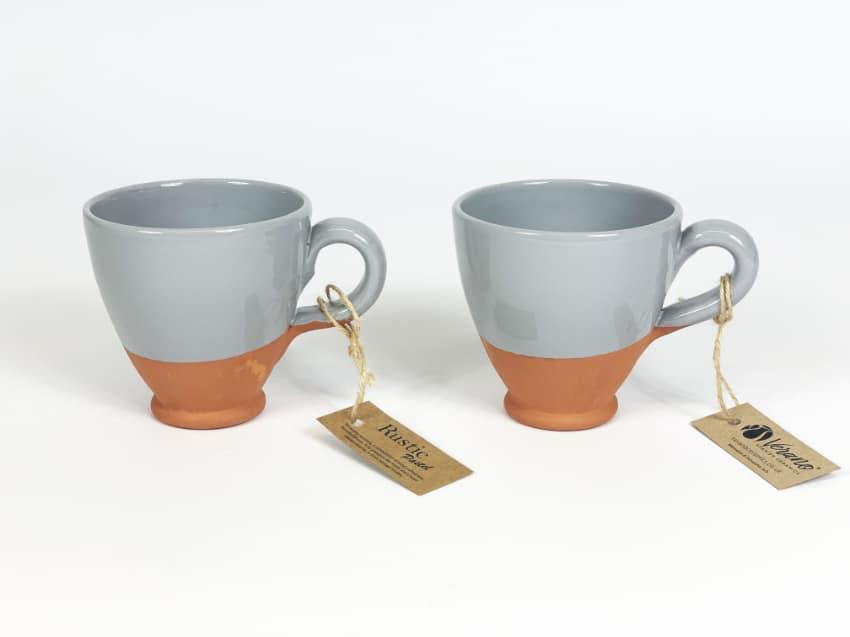 Verano Ceramics Rustic Pastel Everyday Cups Set of 2 Grey