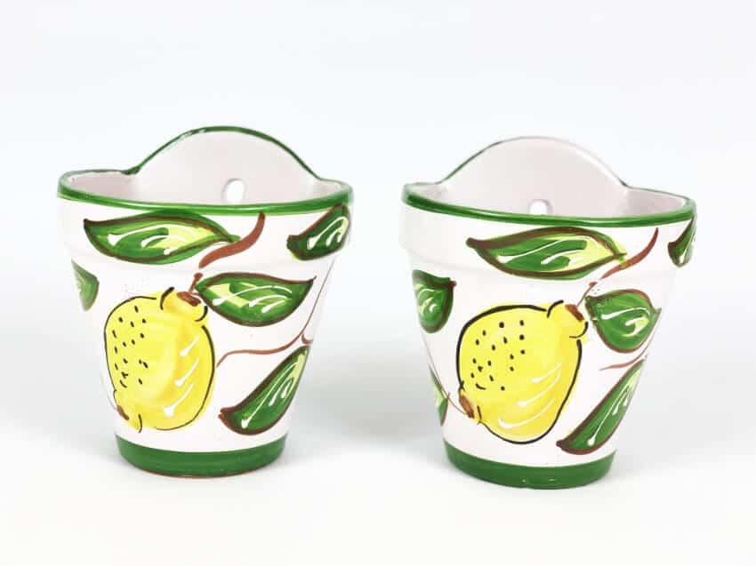 Traditional Spanish - Hand Painted Lemon Hanging Pots