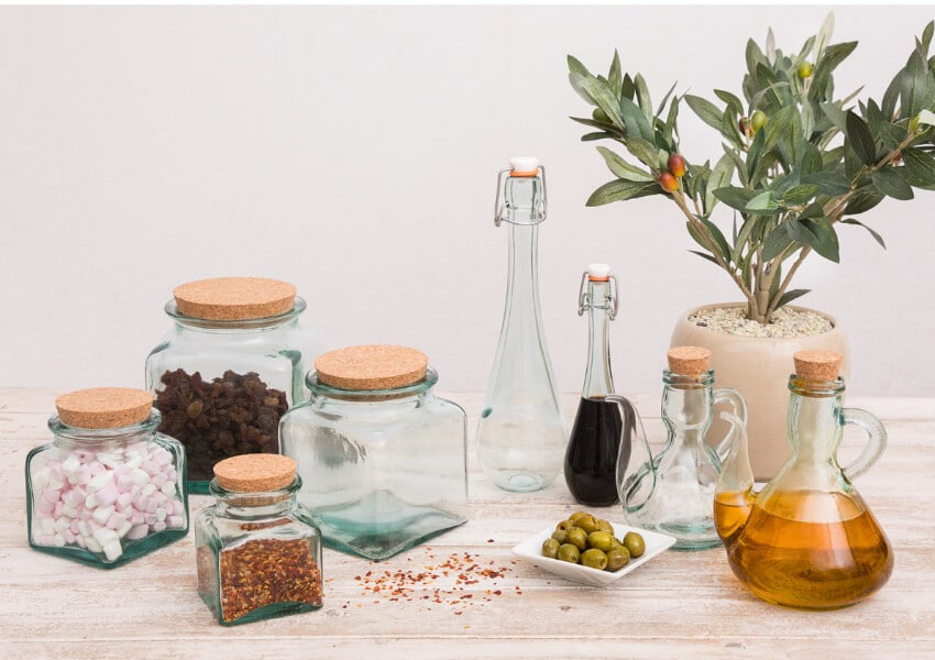 Storers & Pourers - 100% Recycled Glass