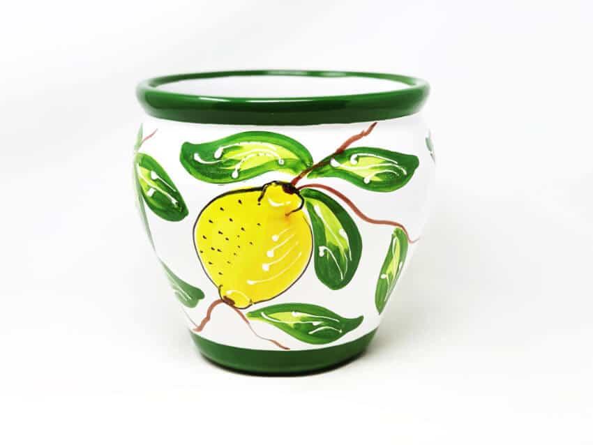 Verano Ceramics Traditional Spanish Lemon Bola Pot
