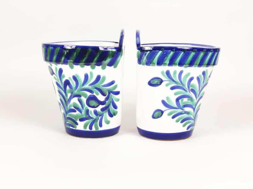Verano-Ceramics-Traditional-Spanish-Set-of-2-TS- CHG17and21-Classic-Hanging-Pot-Granada-1