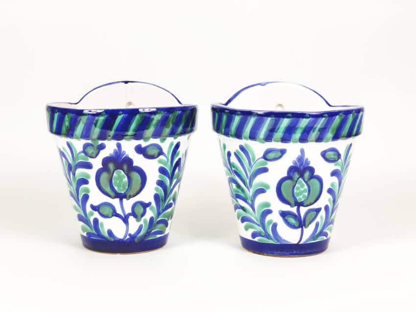Hand Painted Granada Hanging Pots