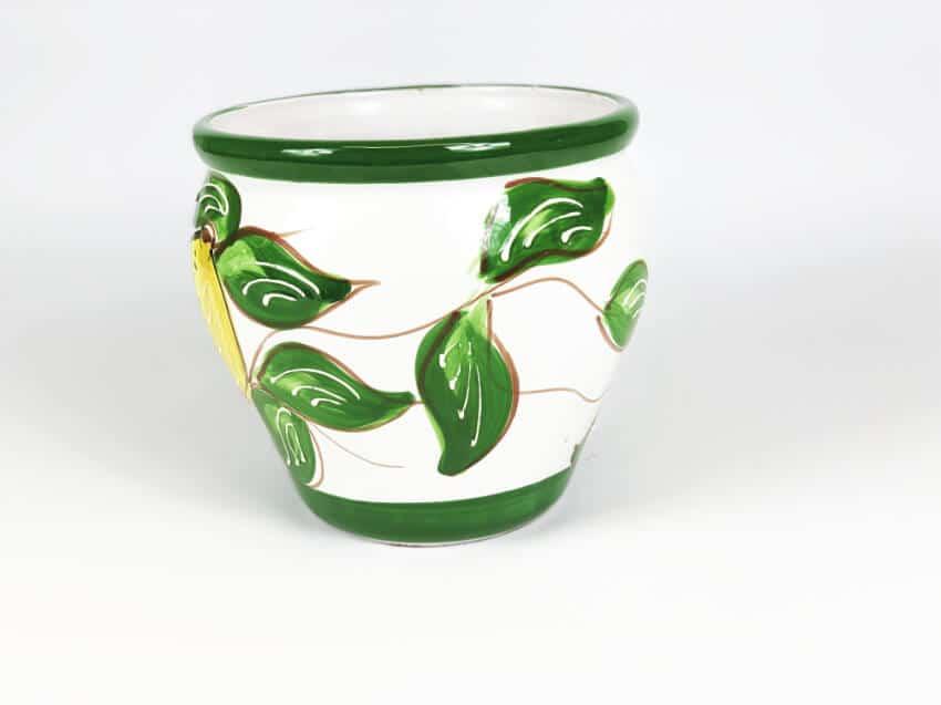 Verano Ceramics Traditional Spanish TS BPL23 Bola Pot Lemon 23cmx23cm 2 3 1