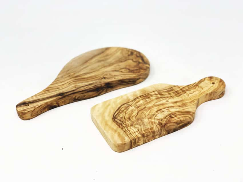 Olive Wood - Small Serving Boards With Handle