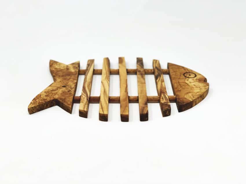 Verano Olive Wood Fish Trivet 5