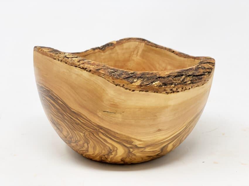 Verano-Olive-Wood-Medium-18Cm-Rustic-Bowl-4