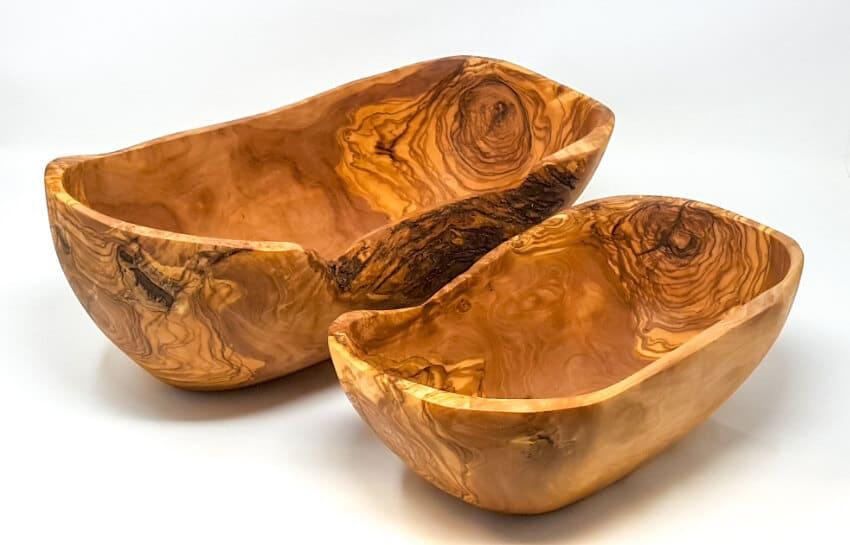 Olive Wood - Handmade Rustic Oval Bowl(S)