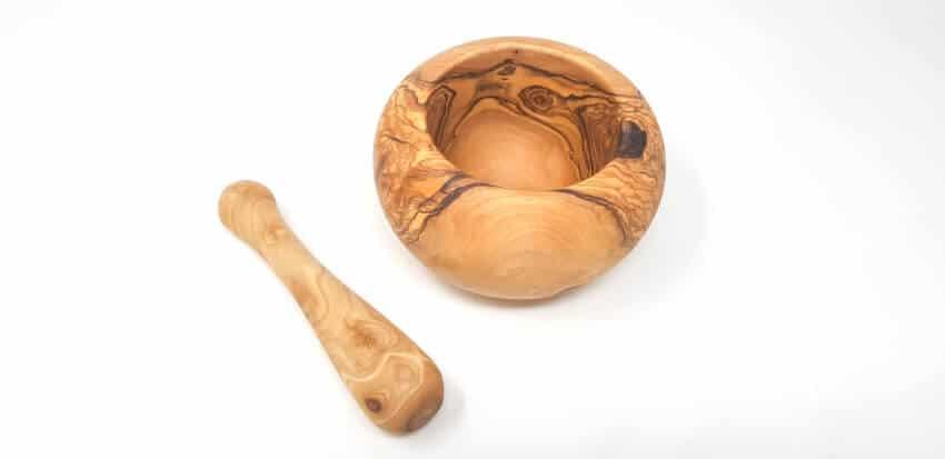 Olive Wood - Round Pestle & Mortar