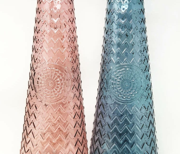 Verano Recycled Glass - Large Mandala Vase