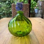 Verano-Recycled-Glass-Ola-Round-Vase-Green-Lifestyle