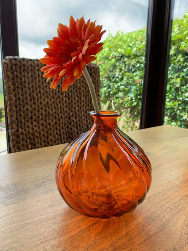 Verano-Recycled-Glass-Ola-Round-Vase-Orange-Lifestyle