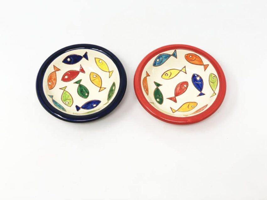 Verano Spanish Ceramics Coloured Fish Taps Bowls Mixed Pair 2
