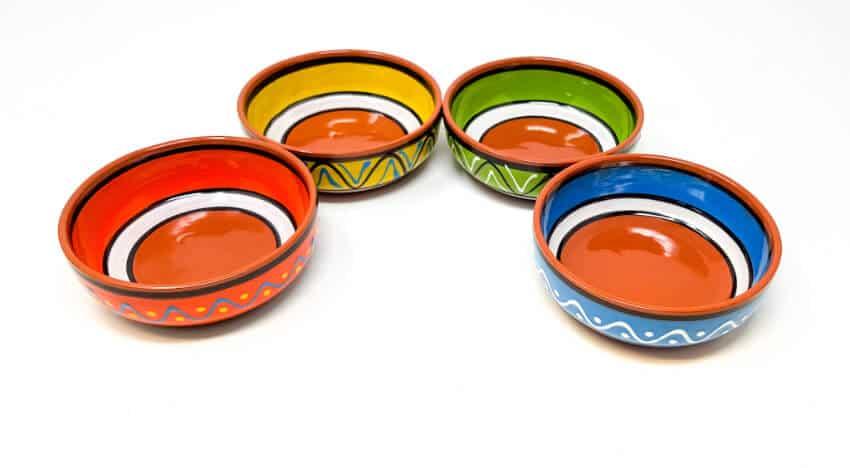 Fiesta - Set Of 4 Hand Painted 11Cm Tapas Bowls