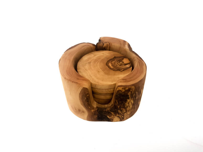 Verano-Spanish-Ceramics-Olive-Wood-Rustic-Coasters-2