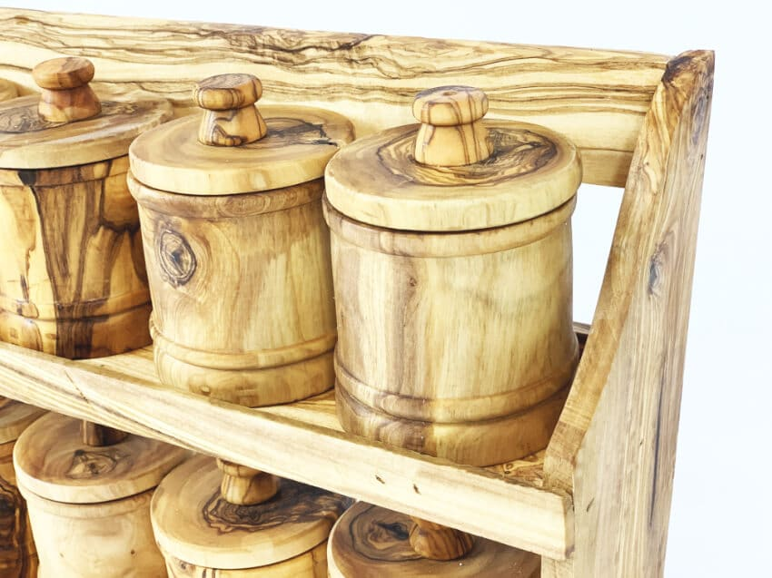 Olive Wood - Spice Rack