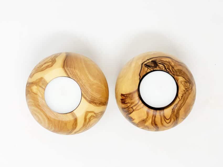 Verano-Spanish-Ceramics-Olive-Wood-Tea-Light-Candle-Holders-Set-of-2-3