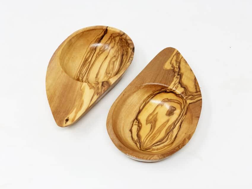 Olive Wood - Set Of 2 Yeng Yeng Dip Dishes