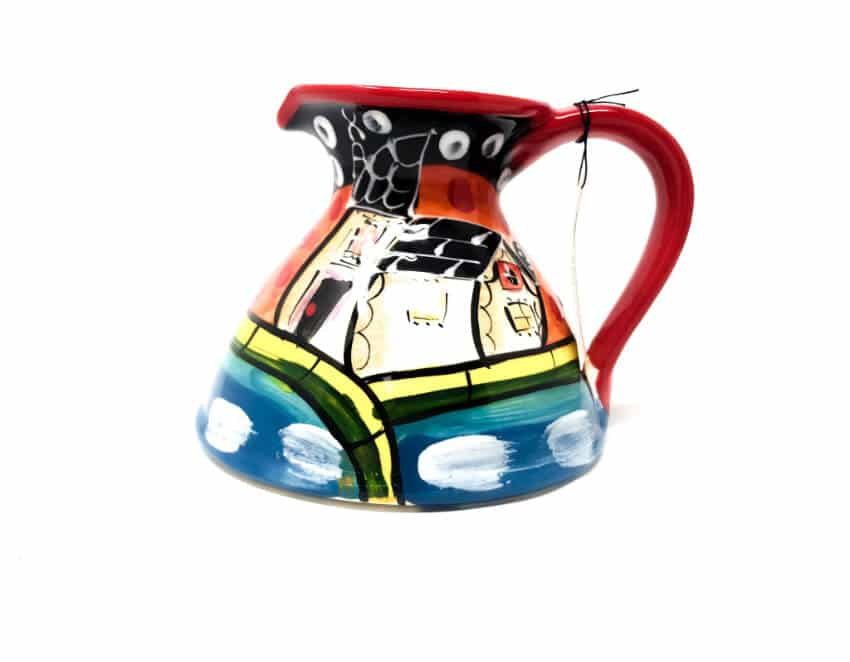 Verano-Spanish-Ceramics-Picasso-Flat-Based-Jug-3