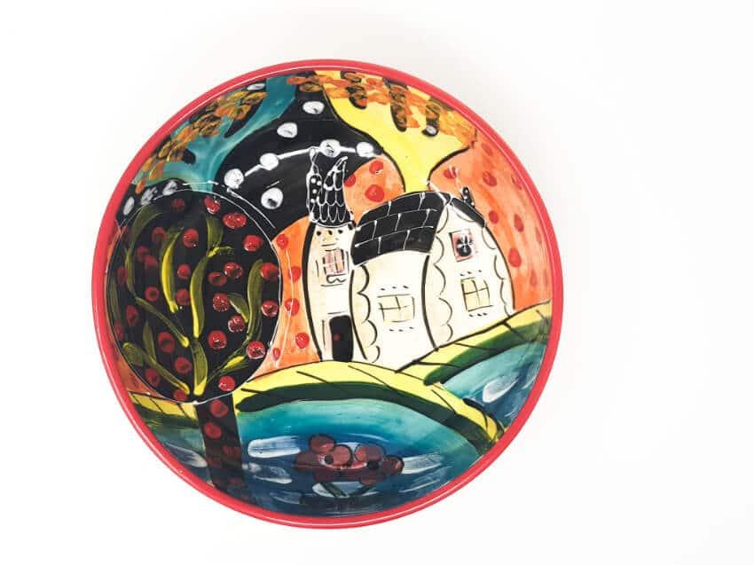 Verano Spanish Ceramics Picasso Fruit Bowl 2