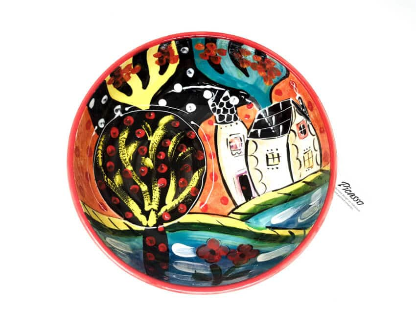 Verano Spanish Ceramics Picasso Fruit Bowl 4