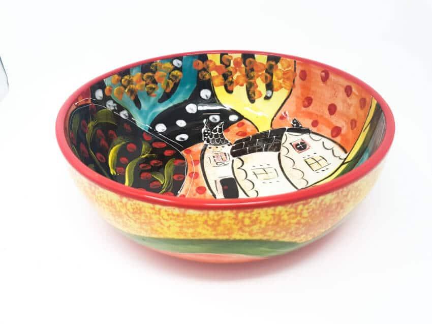 Verano Spanish Ceramics Picasso Fruit Bowl 5