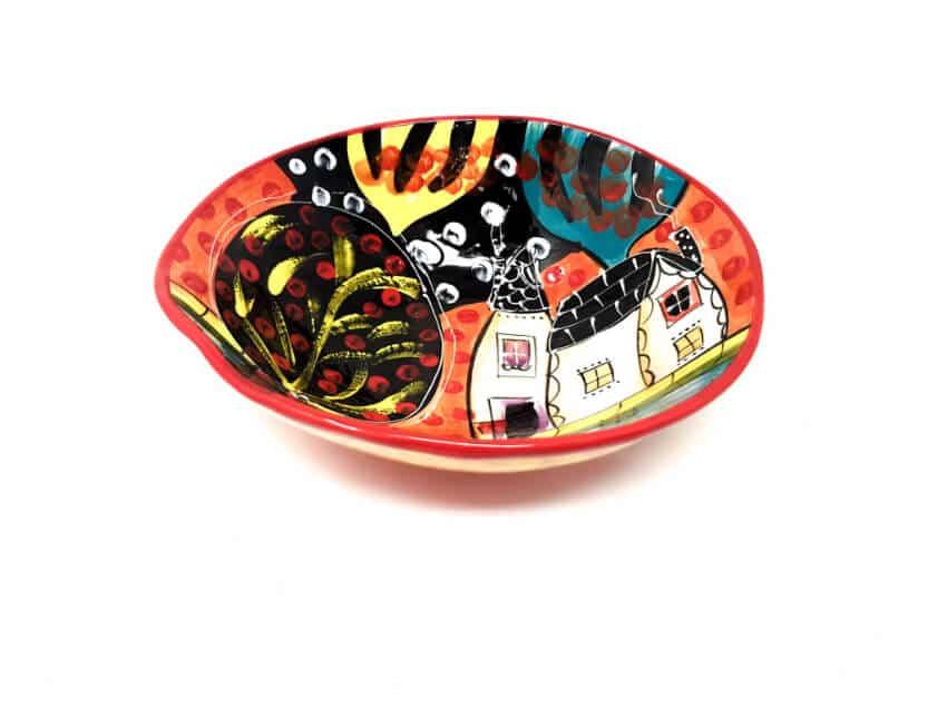 Verano Spanish Ceramics Picasso Large Curvy Bowl 1 1