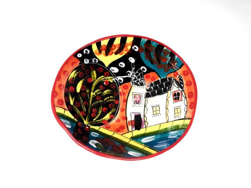Verano Spanish Ceramics Picasso Large Curvy Bowl 2 1