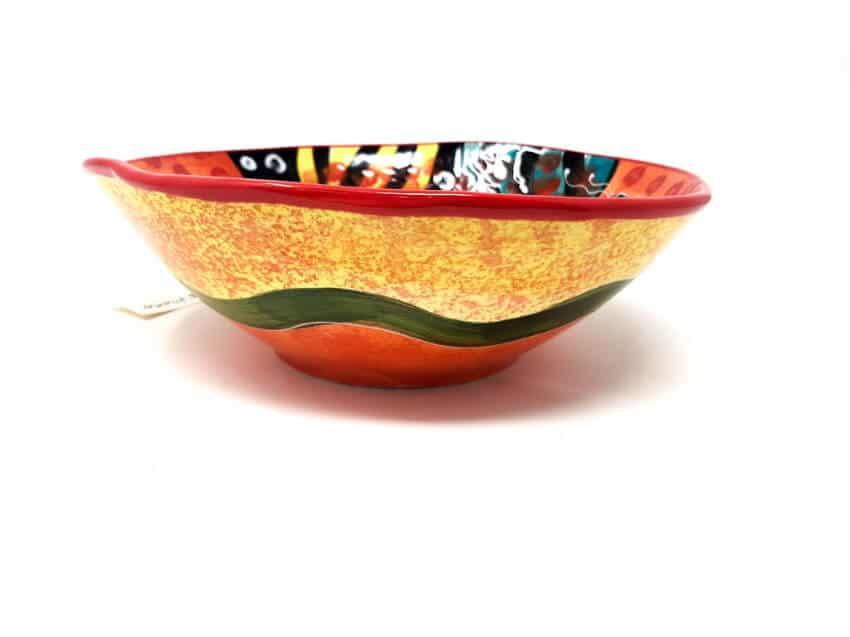 Verano Spanish Ceramics Picasso Large Curvy Bowl 3 1