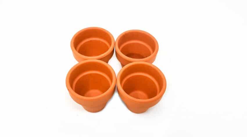 Set Of 4 Terracotta Small Plant Pots