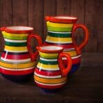 Verano-Spanish-Ceramics-Rayas-Jugs-Group-1