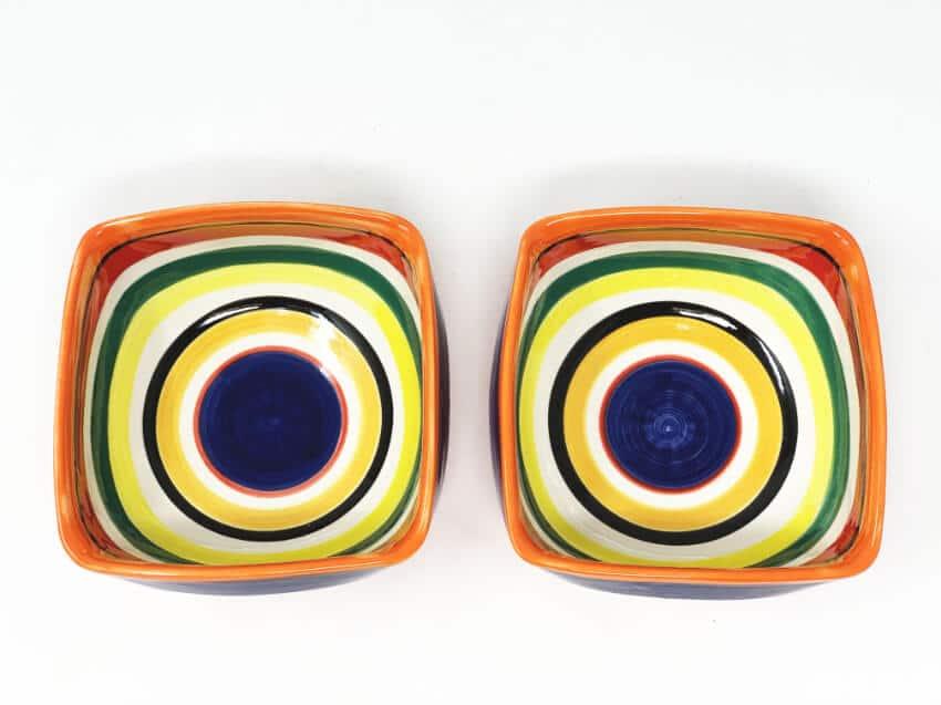 Verano-Spanish-Ceramics-Rayas-Set-of-2-Artisanal-Square-Bowls-14Cm-4
