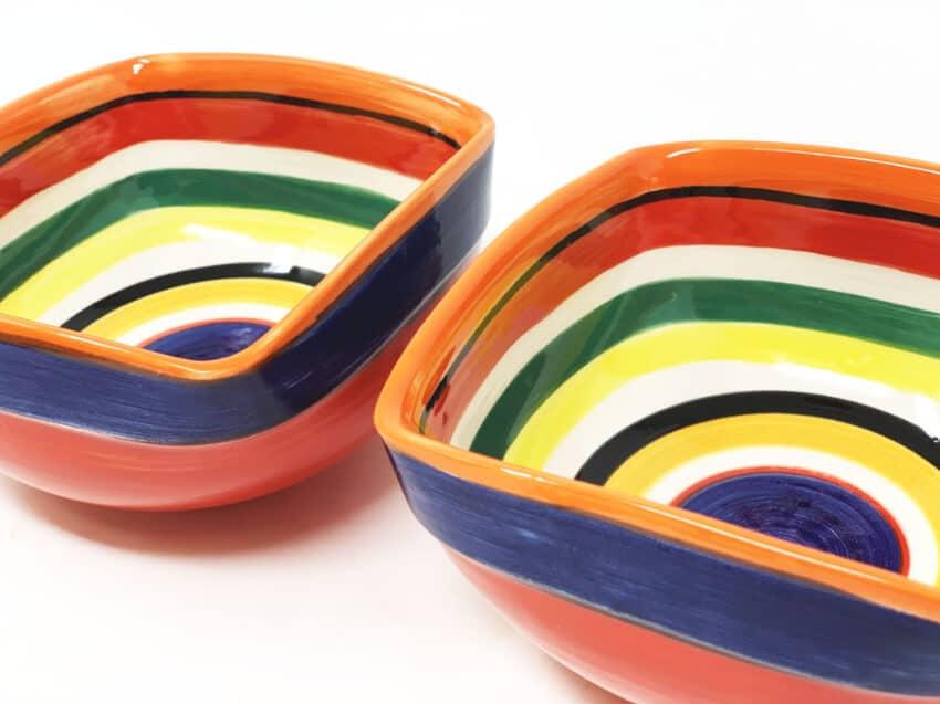 Verano-Spanish-Ceramics-Rayas-Set-of-2-Artisanal-Square-Bowls-14Cm-5