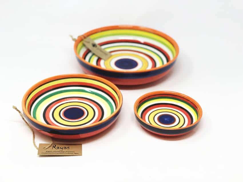 Verano-Spanish-Ceramics-Rayas-Shallow-Bowls-2