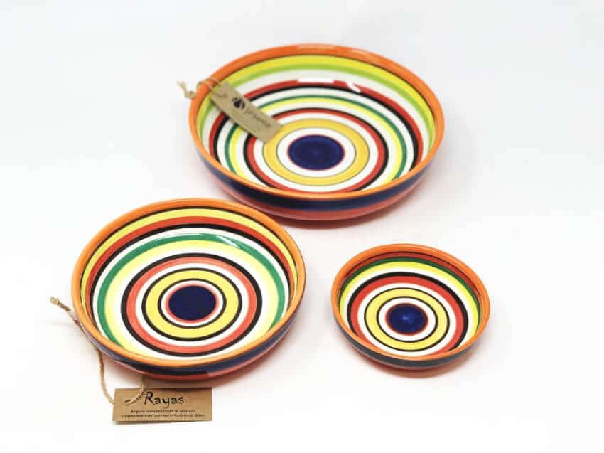 Verano-Spanish-Ceramics-Rayas-Shallow-Bowls-3
