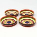 Verano-Spanish-Ceramics-Rayas-Shallow-Set-Of-4-Tapas-Bowls-12cm-4